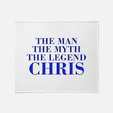 The Man Myth Legend CHRIS-bod blue Throw Blanket