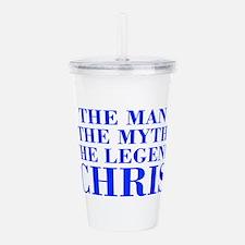 The Man Myth Legend CHRIS-bod blue Acrylic Double-