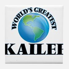 World's Greatest Kailee Tile Coaster