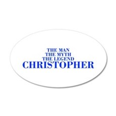 The Man Myth Legend CHRISTOPHER-bod blue Wall Deca