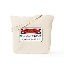 Attitude Financial Advisor Tote Bag