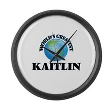 World's Greatest Kaitlin Large Wall Clock