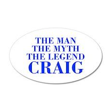 The Man Myth Legend CRAIG-bod blue Wall Decal