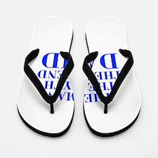 The Man Myth Legend DAVID-bod blue Flip Flops