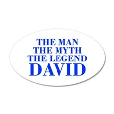 The Man Myth Legend DAVID-bod blue Wall Decal
