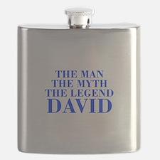 The Man Myth Legend DAVID-bod blue Flask
