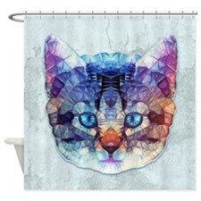 abstract kitten Shower Curtain
