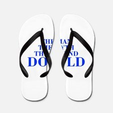 The Man Myth Legend DONALD-bod blue Flip Flops