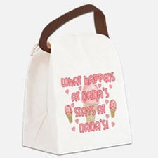 pinknanas.png Canvas Lunch Bag