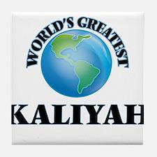 World's Greatest Kaliyah Tile Coaster