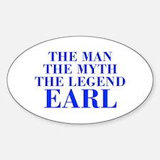 The Man Myth Legend EARL-bod blue Decal