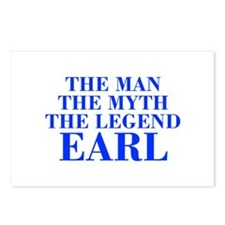 The Man Myth Legend EARL-bod blue Postcards (Packa