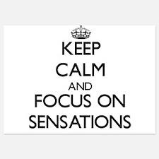Keep Calm and focus on Sensations Invitations