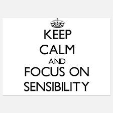 Keep Calm and focus on Sensibility Invitations