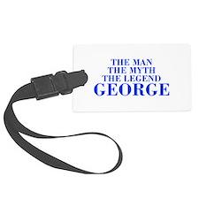 The Man Myth Legend GEORGE-bod blue Luggage Tag
