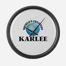World's Greatest Karlee Large Wall Clock