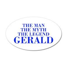 The Man Myth Legend GERALD-bod blue Wall Decal