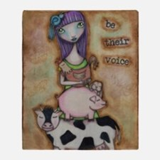 Be Their Voice Throw Blanket