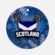 Scottish Lacrosse Christmas Ornament (Round)