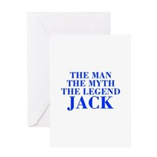 The Man Myth Legend JACK-bod blue Greeting Cards