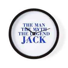 The Man Myth Legend JACK-bod blue Wall Clock