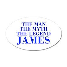 The Man Myth Legend JAMES-bod blue Wall Decal
