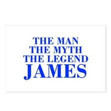 The Man Myth Legend JAMES-bod blue Postcards (Pack