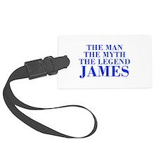 The Man Myth Legend JAMES-bod blue Luggage Tag