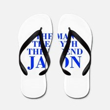 The Man Myth Legend JASON-bod blue Flip Flops