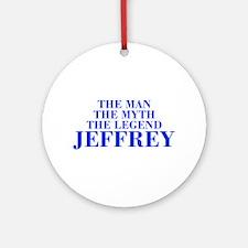 The Man Myth Legend JEFFREY-bod blue Ornament (Rou