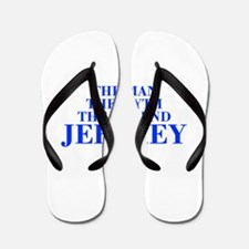 The Man Myth Legend JEFFREY-bod blue Flip Flops