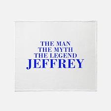 The Man Myth Legend JEFFREY-bod blue Throw Blanket