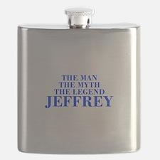 The Man Myth Legend JEFFREY-bod blue Flask