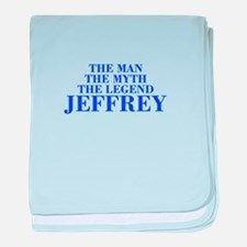 The Man Myth Legend JEFFREY-bod blue baby blanket