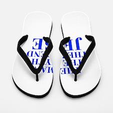 The Man Myth Legend JESSE-bod blue Flip Flops