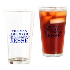 The Man Myth Legend JESSE-bod blue Drinking Glass