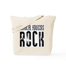 Financial Advisors Rock Tote Bag