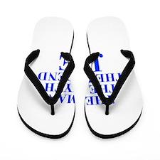 The Man Myth Legend JOE-bod blue Flip Flops