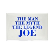 The Man Myth Legend JOE-bod blue Magnets