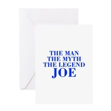 The Man Myth Legend JOE-bod blue Greeting Cards