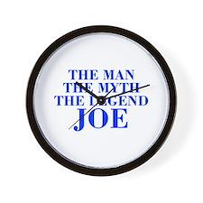 The Man Myth Legend JOE-bod blue Wall Clock
