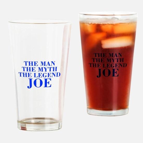 The Man Myth Legend JOE-bod blue Drinking Glass