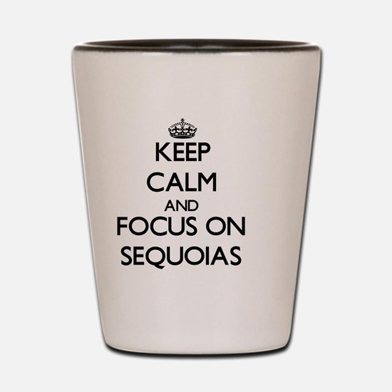Keep Calm and focus on Sequoias Shot Glass