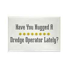 Hugged Dredge Operator Rectangle Magnet
