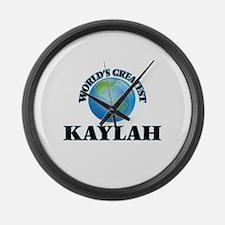 World's Greatest Kaylah Large Wall Clock