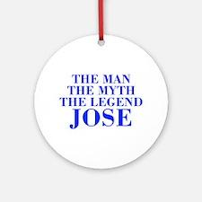 The Man Myth Legend JOSE-bod blue Ornament (Round)
