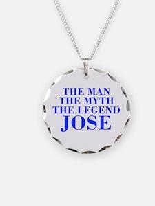 The Man Myth Legend JOSE-bod blue Necklace