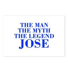 The Man Myth Legend JOSE-bod blue Postcards (Packa