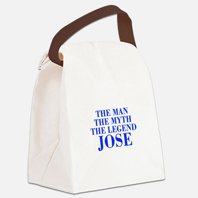 The Man Myth Legend JOSE-bod blue Canvas Lunch Bag
