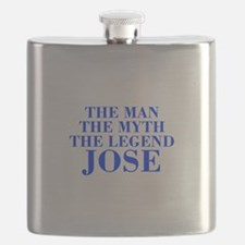 The Man Myth Legend JOSE-bod blue Flask